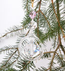 Crystal Ball and Glass Ring Decoration