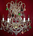 18th Century Elegant 6 Light Neoclassical Chandelier.