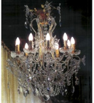 Elegant Crystal Drop 10 Light Chandelier.