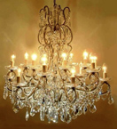 Antique 18 Light Hale Style Chandelier