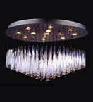 13 Light Floating Icicle Chandelier