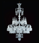 Tiered 48 Light Crystal Drop Chandelier