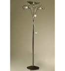 Botte Design Floor Lamp With Hand Forged Details And Glass