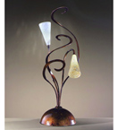 Schizzo Design Table Lamp With Hand Bent Arms And Blown Glass