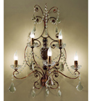 Preziosa Design Tiered Wall Lamp with Crystal Pieces