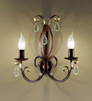 Fiocco Design Wall Lamp With Crystal Details