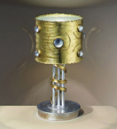 Eyes design 1 Light Desk Lamp is hand decorated with crystal