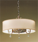 Eden Design 3 Light Shaded Chandelier