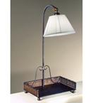 Caronte design square tray hand worked metal floor lamp