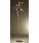 Gru design leaf shaped & murano glass detailed floor lamp