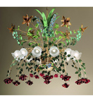 Accuracy Design mixed flower & colour detailed chandelier