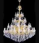 Elegant tiered crystal drop chandelier