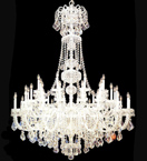 Regency style 45 light tiered crystal drop chandelier