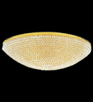 Surface mounted 40 light circular crystal chandelier
